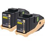 Epson toner Aculaser C9300 yellow double pack 2x...